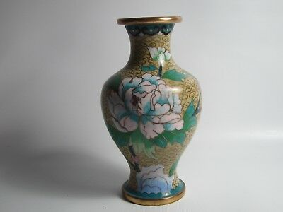 Chinese Republican Cloisonné Flower Vase