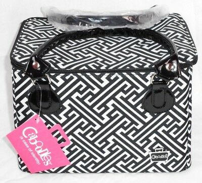 Caboodles Sweet & Sassy Large Tapered Tote Cosmetic Makeup Travel IT Bag Storage