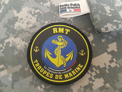 "SNAKE PATCH - écusson TDM "" RMT "" Régiment de Marche du Tchad 2 DB - WW2 FRANCE"