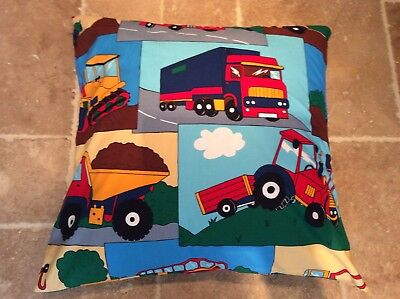 Brand New Large Childs Floor Cushion Cover, Trucks, Tractors And Diggers