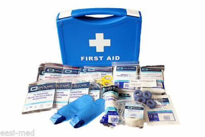 Special Kitchen / Catering First Aid Kit Compact With 100 Blue Plasters QF3000