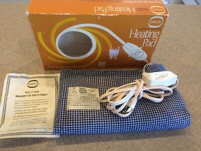 Vintage DAVOL Automatic Electric Heating Pad NO.312(3-switch)WetProof