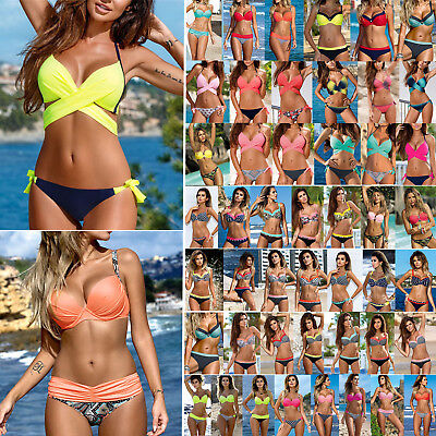 Women's Padded Push-up Bra Bikini Set Swimsuit Swimwear Beachwear Bathing Suit