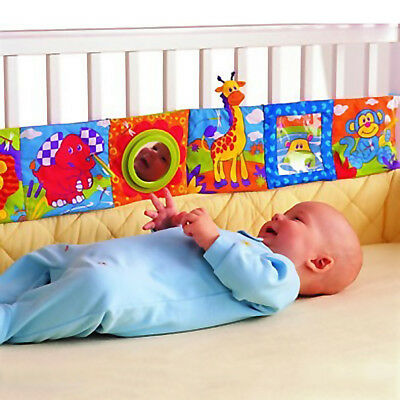 Baby Toy Intelligence Development Cognize Book Bed BB Sound Rattle For Baby Crib
