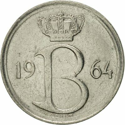 [#421718] Munten, België, 25 Centimes, 1964, Brussels, ZF+, Copper-nickel