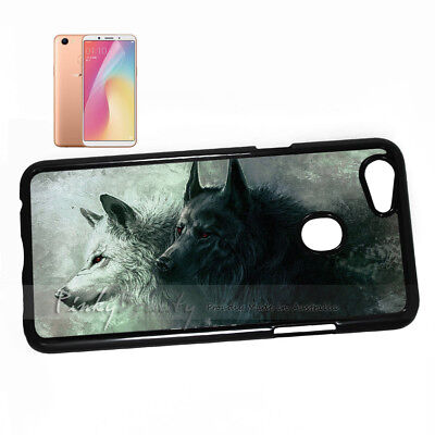 ( For Oppo A73 ) Back Case Cover P11462 Wolf