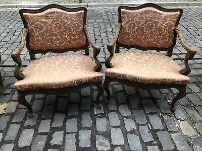 Antique French Armchairs Beautiful Matching Pair