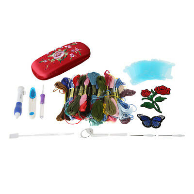 Embroidery Punch Needles Set Floral Knitting Patterns Sewing Tool for DIY Tools
