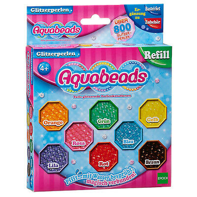 Jewel Beads Aquabeads Kids Art Craft Box Toy Color Water Sticks 160 Pearls