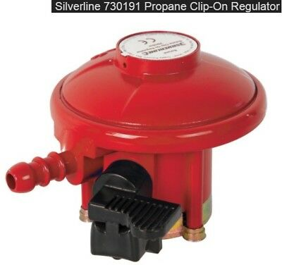 Silverline 27mm Clip-On Propane Regulator (730191) Barbecue Patio Gas 37mbar