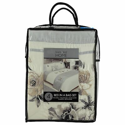 Linens and Lace Floral Bed In a Pack Case Sack Holdall Duvet Cover Set Unisex