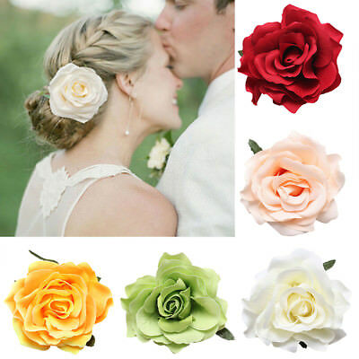 Women's Large Rose Flower Hair Clips Hair Claw clip clamp Jaw Clips Barrette Hot