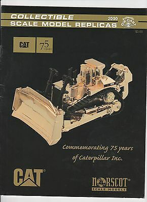 NORSCOT-CAT 75 Jahre CATERPILLAR SCALE MODELS REPLICAS-Prospekt-Katalog  USA