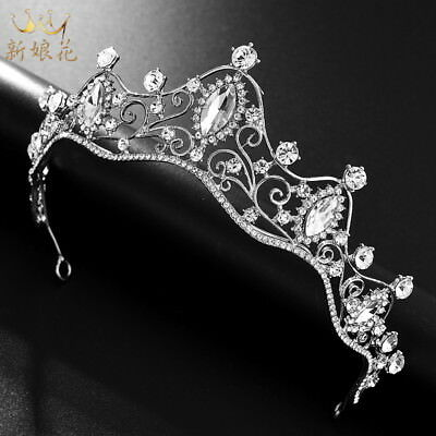 5cm High Clear Crystal Large Wedding Bridal Party Pageant Prom Tiara Crown