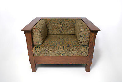 Mission Arts & Crafts Prairie Stickley style Panel Club Cube Chair
