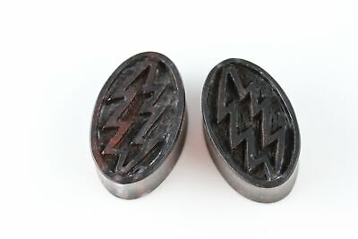 Oval Lightning Wood Plugs for Stretched Ears - Hand Carved (Pair) - PA71