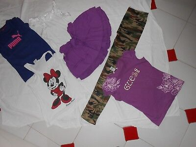 Stock bambina girls 11/12 A shirt Guess canotta top Disney minnie mouse legging