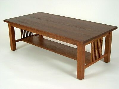 Mission Oak Arts & Crafts Stickley style Coffee Cocktail Table