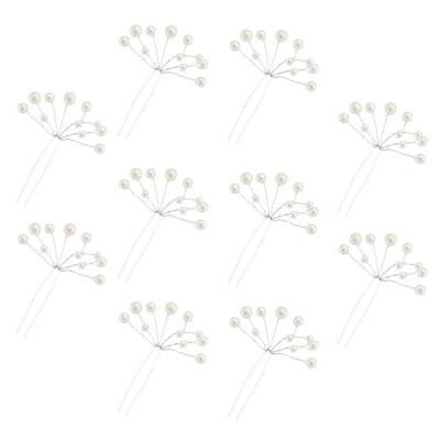 10x Pearl Wedding Pins Bridal Bridesmaid Decorative Bling Clips for Party Prom