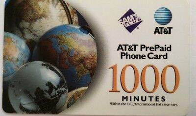 AT&T 1000 Minutes PrePaid Phone Card, Vintage Collectible                   (K)