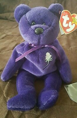 90ba6329062 Rare TY Mint 1st Edition Princess Diana 1997 Retired Beanie Baby NO SPACE