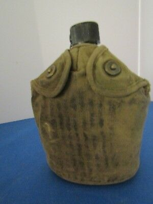 Vintage 1945 US Army World War II canteen US Massillon Co