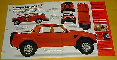 85 86 1987 Lamborghini LM002 SUV V12 off on road 5167cc IMP Info/Spec/photo 15x9