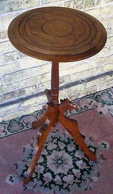ANTIQUE WALNUT HAND CARVED VICTORIAN CANDLE LAMP PLANT DISPLAY STAND LATE 1890's