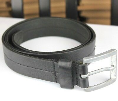 "Marks & Spencer Thick Black Real Leather Belt Vintage Best fits 30-33"" Waist"