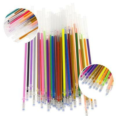48 Colors Gel Ink Pen Glitter Coloring Stationery Office SupplieW