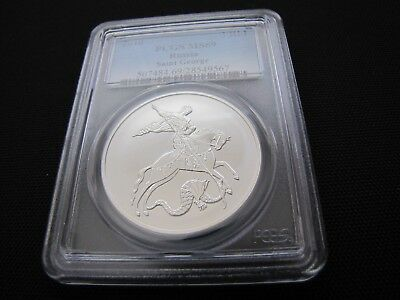 2010 Russia 3 Rubles St. George Silver PCGS MS 69