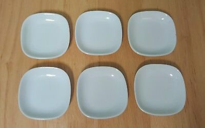 OMC Japan VINTAGE white square buttter pats mini table plates 2 x 2 in