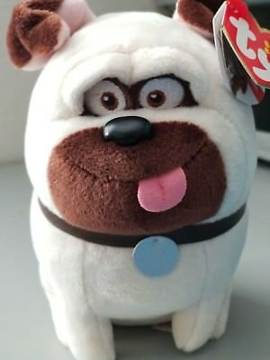 The Secret LIFE OF PETS - Cute Funny Mel Dog Plush Toy (NEW) ty Free Shipping!