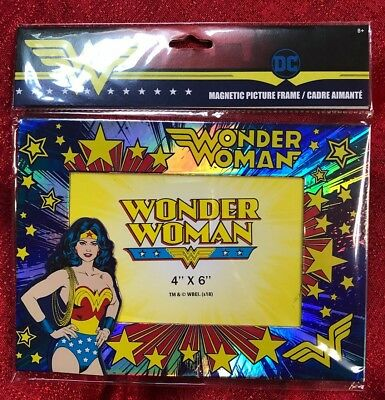 DC Comics Wonder Woman Photo Frame- Table Top Or Magnetic- Holds 4x6 Photo