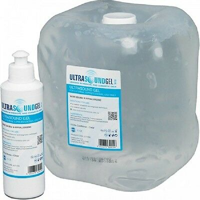 New Clear Ultrasound Gel 5 LITER Jug, with a Free Dispenser Bottle