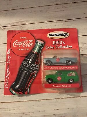 Matchbox 1950s 60s 70s Coca Cola Collection Series Chevrolet Ford Volkswagon