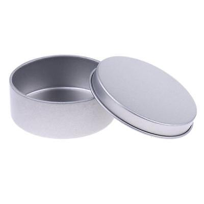 Metal Tin Containers Round with Lids Tins for Making Candles, Spices, Beads