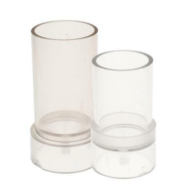 DIY Candle Soap Mould Templet Hand Craft Round Silicone Tube Column Mold 2pc