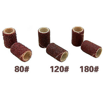 Sanding Bands in 3 Grits Nail Art Electric Drill File Machine Bits UK THock ^FW