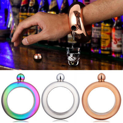 3.5oz Creative Hidden Booze Smuggle Bracelet Wine Pot Bangle Flask Jewellery ZRK