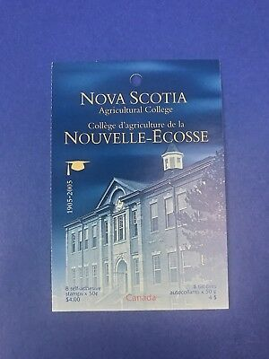 Canada Stamps -NOVA SCOTIA AGRICULTURAL COLLEGE BOOKLET OF 8 x 50c  *NEW*