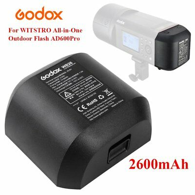Godox WB26 2600mAh Li-ion Battery Pack For Godox Witstro AD600Pro Outdoor Flash
