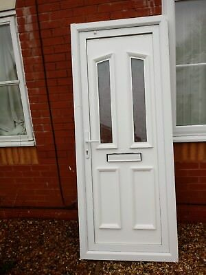 UPVC DOUBLE GLAZED Front/Back Door and Frame - £67.00 | PicClick UK