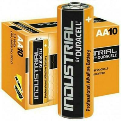 10 x Duracell AA Industrial Alkaline Batteries 1.5V LR6 MN1500 Procell 2024 exp.