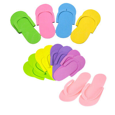 12 Pairs Disposable Flip Flops Foam Pedicure Tanning Spa Slippers Supplies
