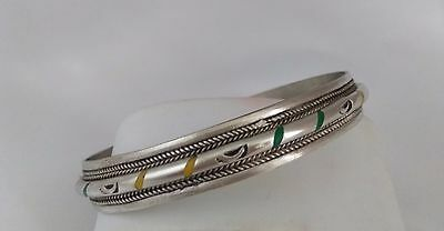 Moroccan Bangle Ethnic Artwork Engraved Berber Style Old Metal Bangle
