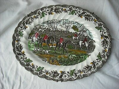 decorative pot plate, Myotts Country Life  Hand Engraved English Scenes,