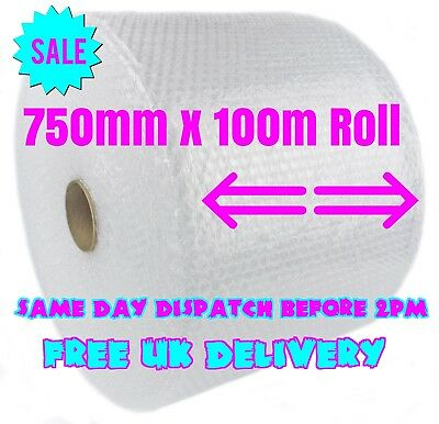 750mm x 100m Small Bubble Wrap Cushioning Quality Bubble 100 meters long roll