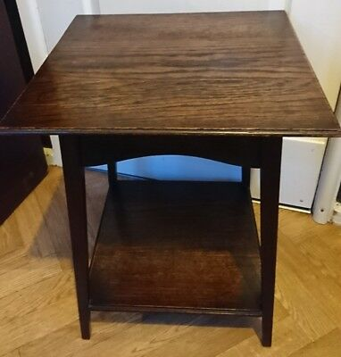 Antique Solid Oak Two Tier Display Hall Table