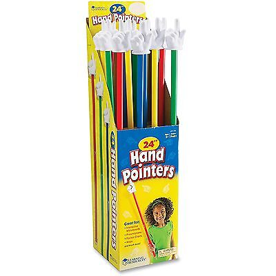"Learning Resources Hand Pointers 24"" Set Of 16 10/CT Multi LER1959"